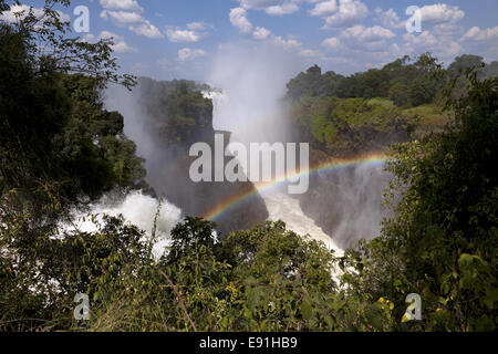 Victoria Falls in Zimbabwe - Stock Photo