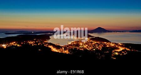Mali Losinj, Croatia panoramic view - Stock Photo