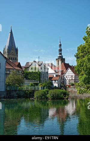 Point of viwe from Soest, Germany - Stock Photo