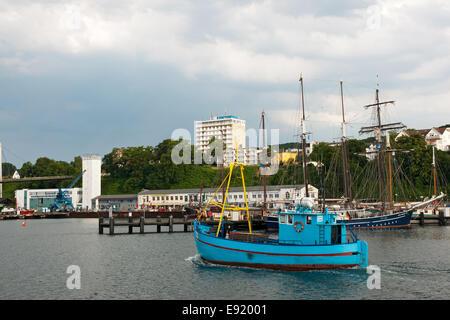 In the harbour of Sassnitz, Ruegen, Germany