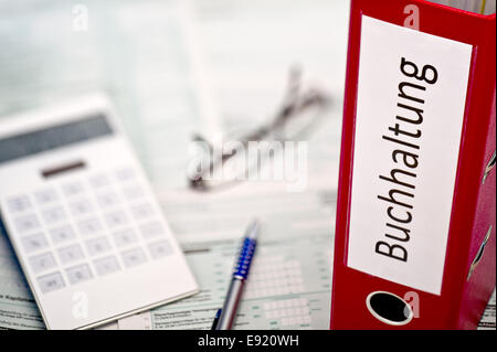 Folder with accounting records - Stock Photo