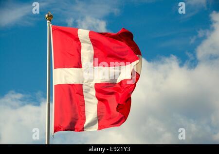 Danish Flag - Stock Photo