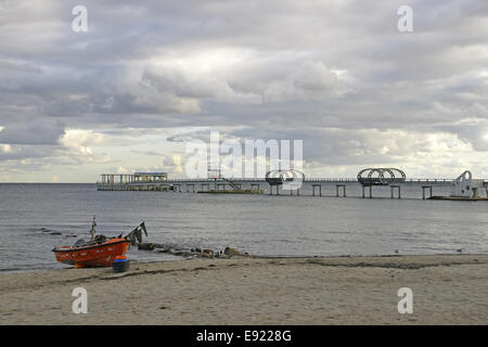 Pier in Kellenhusen, Baltic Sea, Germany - Stock Photo