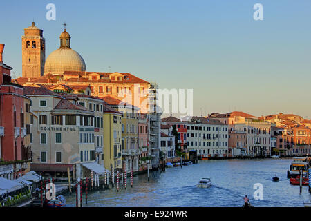 Canale Grande in the evening light - Stock Photo