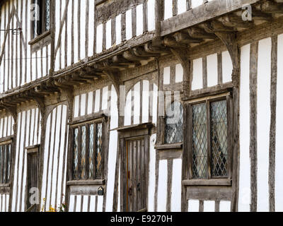 Old english timber-framed Tudor house in the village, Stoke by Nayland in Suffolk. - Stock Photo