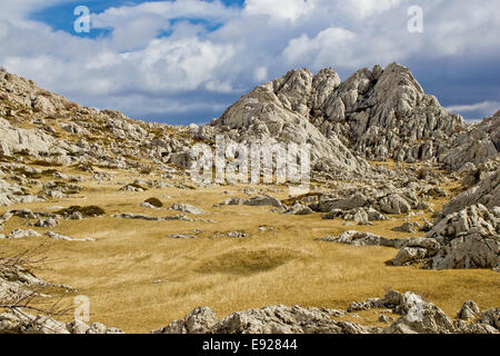 Velebit mountain landscape near Tulove Grede - Stock Photo