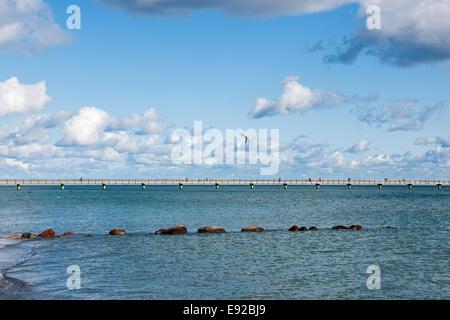Pier in Groemitz, Baltic Sea, Germany - Stock Photo