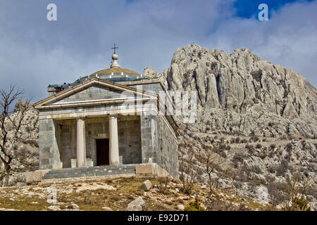 Stone church on Velebit mountain - Stock Photo