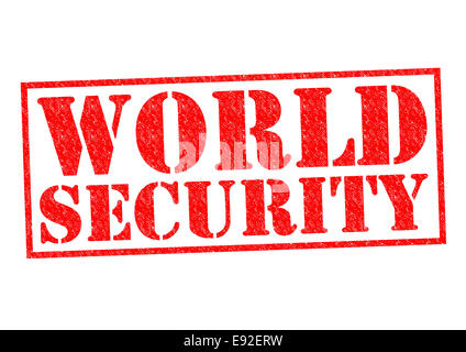 WORLD SECURITY red Rubber Stamp over a white background. - Stock Photo