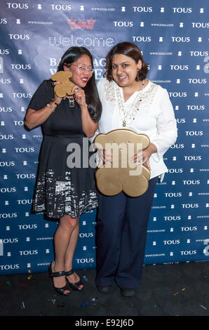 New York, NY, USA - October 15 2014: Unidentified guests attend TOUS Backstage Winter Party - Stock Photo