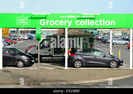 a click and collect drive through point at the asda on honey end lan stock photo 130728409 alamy. Black Bedroom Furniture Sets. Home Design Ideas