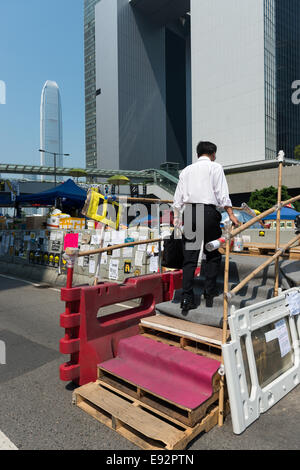 Hong Kong. 17th October, 2014. Protests: Students, pro democracy activists and other supporters of Occupy Central, - Stock Photo