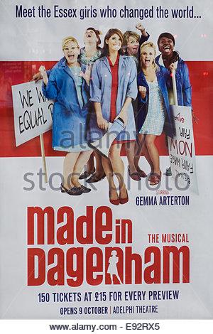 Theater Billboard Advertising 'Made in Dagenham' the Musical - Stock Photo