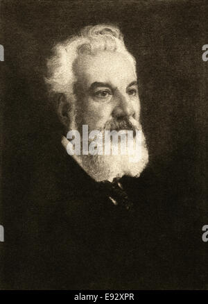 Alexander Graham Bell (1847-1922), Inventor of Telephone, Portrait - Stock Photo