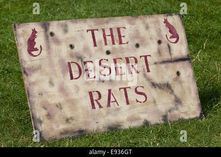 The Desert Rats sign - Stock Photo