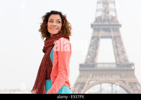 Portrait of woman in Paris - Stock Photo