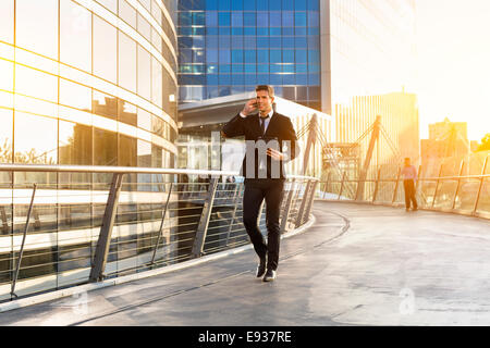 Businessman using a mobile phone - Stock Photo