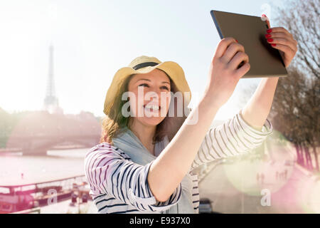 Woman Visiting Paris - Stock Photo