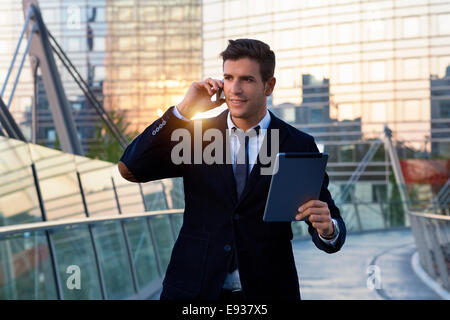Businessman in Paris - Stock Photo