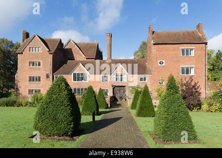 Harvington Hall a moated medieval and Elizabethan manor house, Harvington, Worcestershire, England, UK - Stock Photo