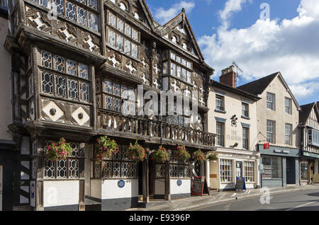 The Feathers Hotel, the Bull Ring, Ludlow, Shropshire, England, UK - Stock Photo