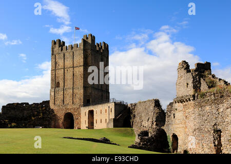 3255.The Castle, Richmond, North Yorkshire, UK - Stock Photo