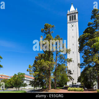 Sather Tower (The Campanile) at the University of California Berkeley, Berkeley, California, USA - Stock Photo