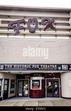 History Museum on the Square, historic Fox Theater, 157 Park Central Square, Springfield, Missouri - Stock Photo