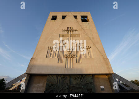Evening sun on the Metropolitan Cathedral of Christ the King in Liverpool city centre UK - Stock Photo