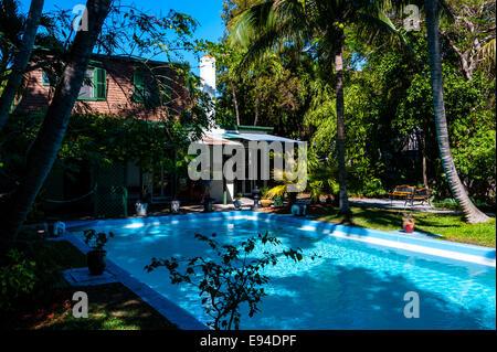 US, Florida, Key West. Ernest Hemingway Home. - Stock Photo