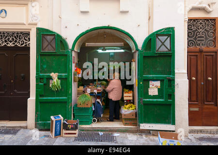 A greengrocers in Valletta, the capital of Malta and the European Capital of Culture for 2018 - Stock Photo