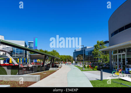 google office in usa. EDITORIAL USE ONLY; Google Head Office Campus, Mountain View, Californias, USA - Stock Photo In Usa