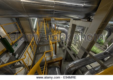 Industrial staircase going up - Stock Photo