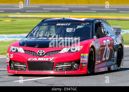Concord, North Carolina, USA. 9th Oct, 2014. Concord, NC - Oct 9, 2014: Sprint Cup Series driver Cole Whitt (26) - Stock Photo