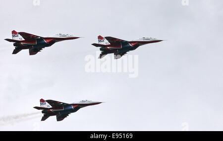 Aerobatic team 'Swifts' on the MiG-29 - Stock Photo