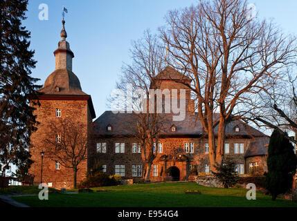 Burg Schnellenberg Castle, Attendorn, Sauerland, North Rhine-Westphalia, Germany - Stock Photo