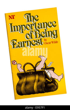 Programme for the 1982 National Theatre production of The Importance of Being Earnest by Oscar Wilde, at the Lyttelton - Stock Photo