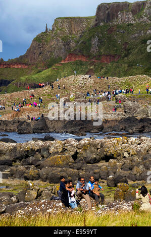 The Giants Causeway, Co, Antrim, Northern Ireland - Stock Photo