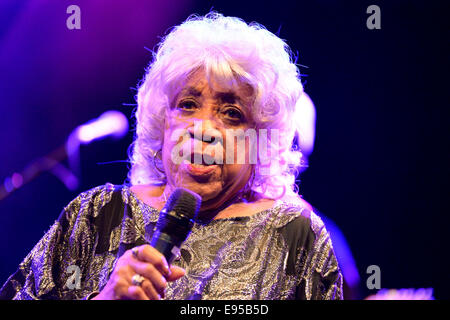 BARCELONA - MAY 15: Swamp Dogg, American soul music band, performance at Barts stage on May 15, 2014 in Barcelona, - Stock Photo