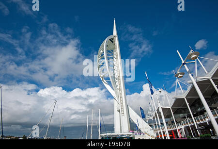 Spinnaker Tower Gun Wharf Quay Portsmouth Harbour Hampshire - Stock Photo