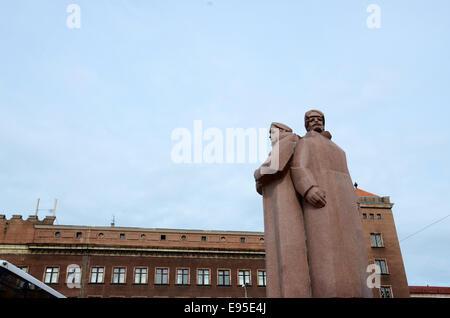 latvian rifleman monument riga latvia - Stock Photo