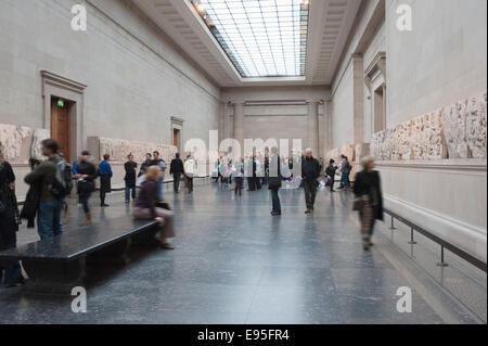 The Elgin Marbles from the Parthenon in The British Museum - Stock Photo