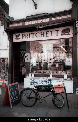 Exterior of Pritchett old butchers shop in Butchers Row Salisbury - Stock Photo