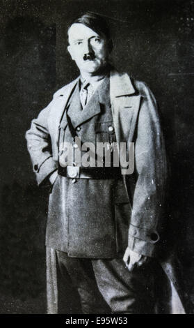 Oct. 11, 2014 - GERMANY - CIRCA 1940s: Studio portrait of Adolf Hitler, leader of nazi Germany. Reproduction of - Stock Photo