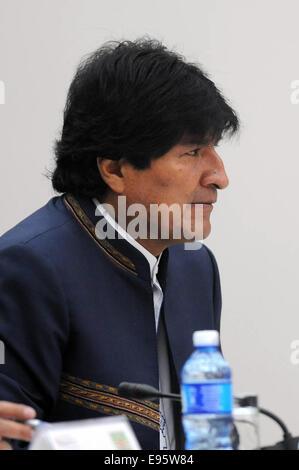 (141020) -- HAVANA, Oct. 20, 2014 (Xinhua) -- The Bolivian President Evo Morales takes part in the extraordinary - Stock Photo