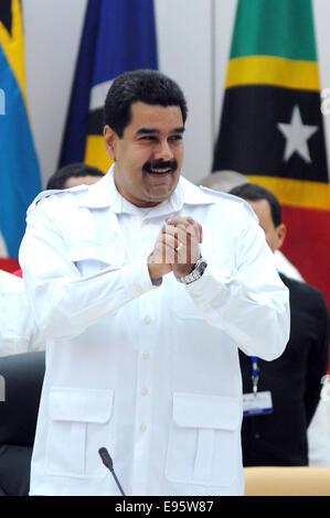 (141020) -- HAVANA, Oct. 20, 2014 (Xinhua) -- The Venezuelan President Nicolas Maduro takes part in the extraordinary - Stock Photo