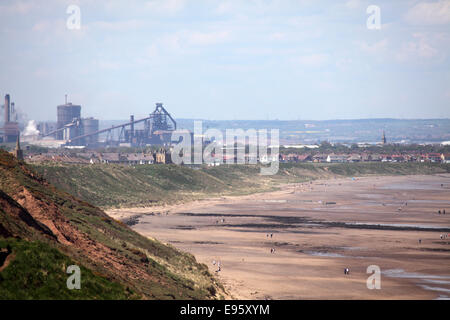 Redcar steel works in Redcar, United Kingdom. - Stock Photo