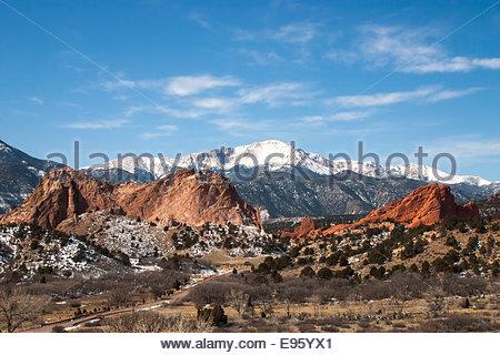The Garden of the Gods Park, Colorado Springs, Colorado - Stock Photo