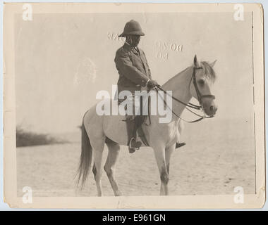 Title: [Colonel Theodore Roosevelt on Horseback in Egypt] - Stock Photo