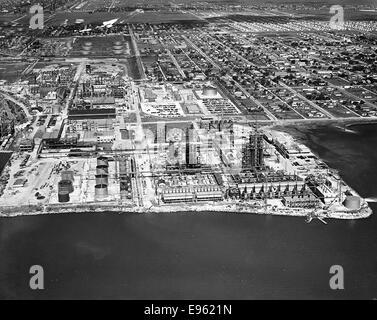 [Aerial View, Texas City Plant, Monsanto Chemical Co.] - Stock Photo